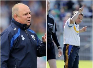 Waterford boss Derek McGrath and Clare manager Davy Fitzgerald