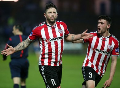 File photo: Rory Patterson celebrates with Dean Jarvis.