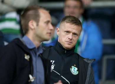 Duff ended his playing career with Shamrock Rovers.