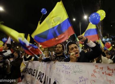 People celebrate after news of the ceasefire broke last week.