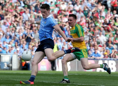 Diarmuid Connolly in action for Dublin against Donegal