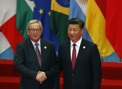 European Commission President Jean-Claude Juncker and China's President Xi Jinping.