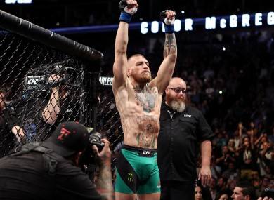 UFC featherweight champion Conor McGregor pictured prior to his victory over Nate Diaz last month.