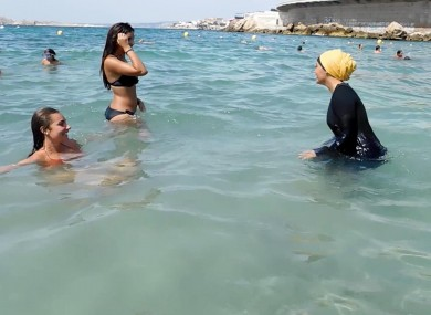 261978d6daa Nesrine Kenza who says she is happy to be free to wear a burkini, and