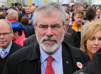 Gerry Adams attends the National Ploughing Championships a week ago.
