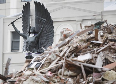 File photo of aftermath of Feb 2011 earthquake in Christchurch, New Zealand.