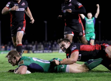 Peter Robb gets over for a try.