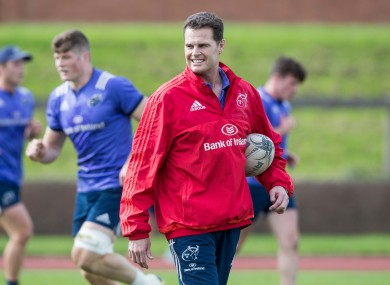 Munster Director of Rugby Rassie Erasmus overseeing a training session at UL earlier this week.