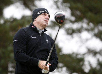 Paul McGinley is playing well in Hertfordshire.