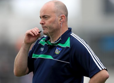 Anthony Daly was with Limerick's minors earlier this year.
