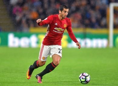 Henrikh Mkhitaryan has struggled to make an impact at Man United.