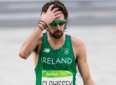 Clohisey after finishing the Olympic marathon in August.