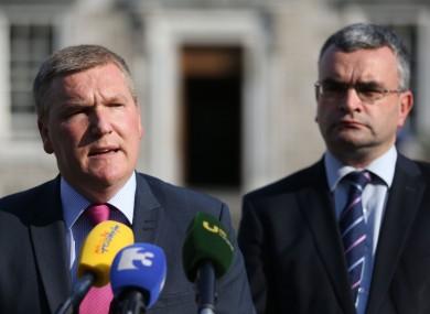 Fianna Fail's Michael McGrath (left) and Dara Calleary.