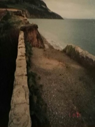 The old Bridge at North Beach in Greystones.