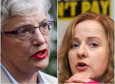 Children's Minister Katherine Zappone and AAA-PBP TD Ruth Coppinger
