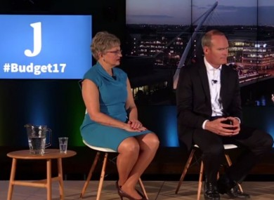 Children's Minister Katherine Zappone and Housing Minister Simon Coveney speaking during TheJournal.ie's Facebook Live event last night in Facebook headquarters in Dublin.