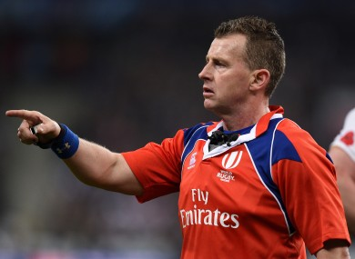 Owens: Refereed last year's World Cup final.