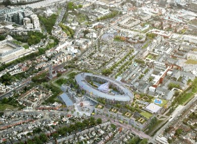 Plans for the new children's hospital at the St James's campus in Dublin.