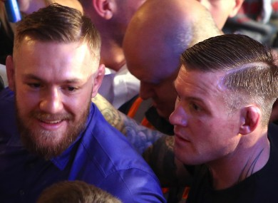 Charlie Ward (right) with SBG team-mate Conor McGregor.