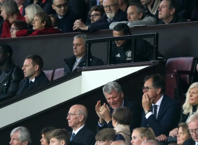 Mourinho was forced to watch the second half from the stands.
