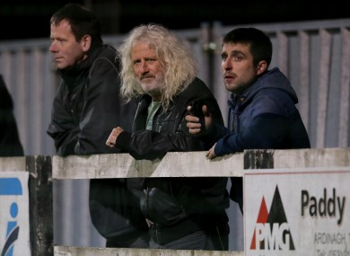 Wexford Youths chairman and TD Mick Wallace (centre).