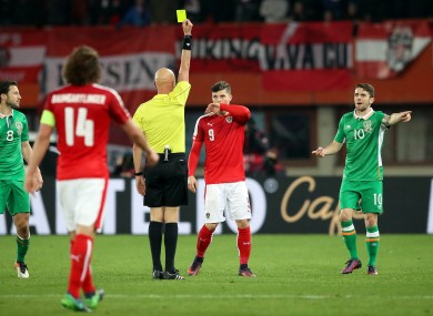 Robbie Brady picked up a costly booking this evening.