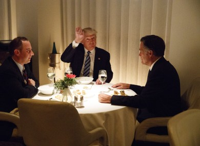 81a8a40e658 President-elect Donald Trump eats dinner with chief of staff Reince Priebus  and former rival