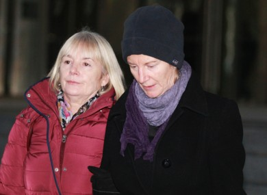 Bernadette Scully (R) gave evidence in the Central Criminal Court today.