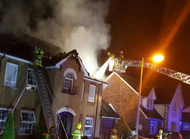 The fire in Knocksedan Demense in Swords.