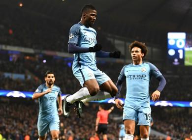 Kelechi Iheanacho scores for Manchester City against Celtic