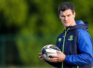 Sexton at Leinster training yesterday.