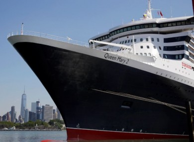 Queen Mary 2 docked in new York earlier this year.