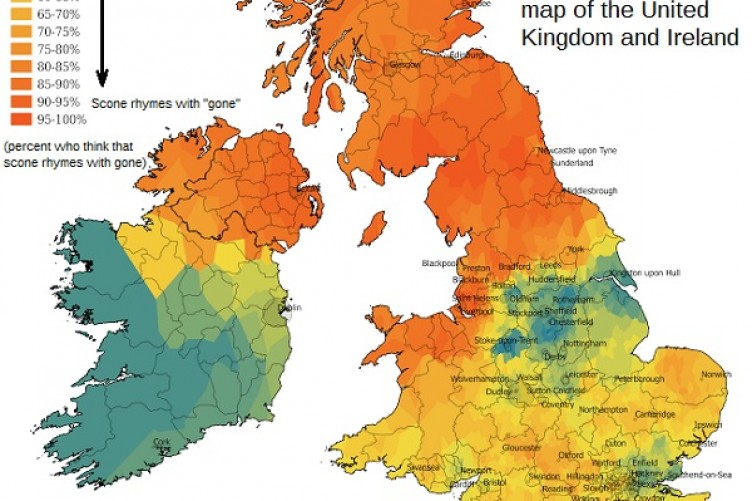 Map Of Ireland Ireland.A New Map Reveals How Different Counties Across Ireland Pronounce Scone
