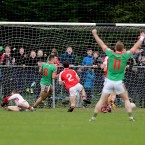 Ian Kilbride's goal caps off a victory for St Brigid's.<span class=