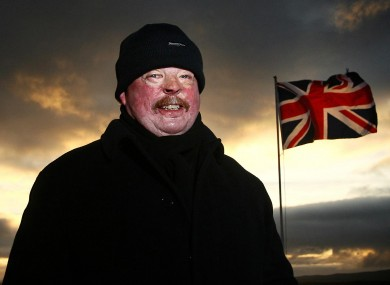 Conflict veteran Simon Weston in Stanley, on the 25th anniversary of the Falklands conflict.