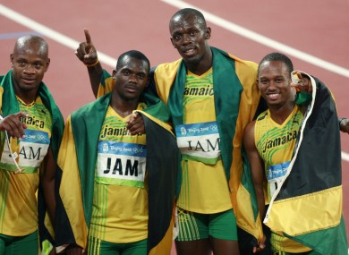 Carter (second from left) has tested positive for a banned substance.