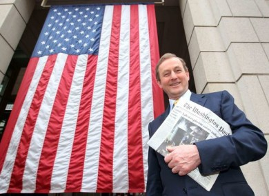 Enda Kenny on his first visit to Washington DC as Taoiseach in 2011.