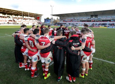 Rory Best speaks to the Ulster players after the weekend's loss in Belfast.