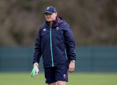 Ireland head coach Joe Schmidt has some choices to make.