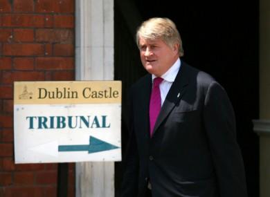 Businessman Denis O Brien leaves the Moriarty Tribunal in Dublin Castle in 2007.