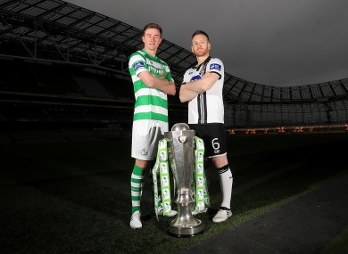 Ronan Finn and Stephen O'Donnell at last week's league launch.