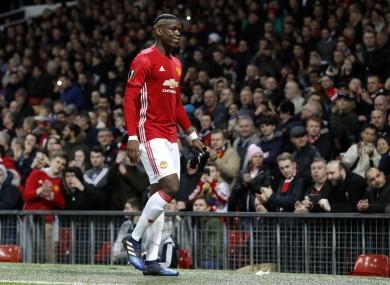 Pogba injured his hamstring midweek.