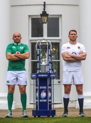 Best and Hartley at this year's Six Nations launch.