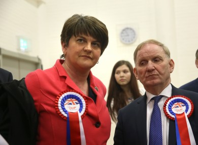 DUP leader Arlene Foster has been refusing calls for her to resign in the wake of the election results.