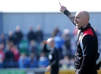 Sligo Rovers manager Gerard Lyttle (file photo).