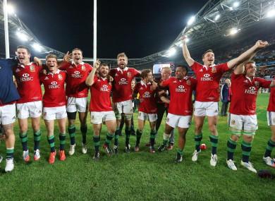 The Lions won their 2013 tour of Australia 2-1.