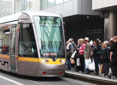 File photo of a Luas tram