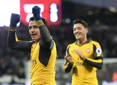 Sanchez and Ozil have attracted criticism for their displays this season.