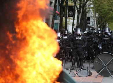 Police in Portland.