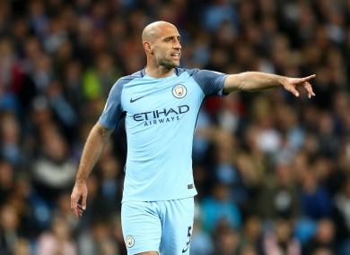 Manchester City full-back Pablo Zabaleta